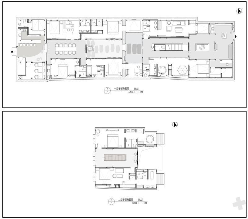 """观芷·翠陌是标准的江南古民居建筑风格,""""四水归堂""""布局,木梁承重,砖图片"""